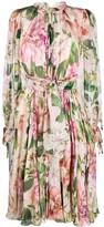 Dolce & Gabbana floral print chiffon dress