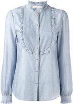 Vanessa Bruno striped bib shirt - women - Cotton/Lyocell - 40