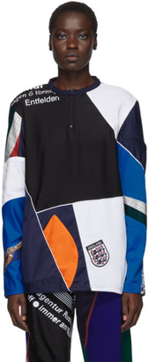 Ahluwalia Navy Patchwork Zip Sweater