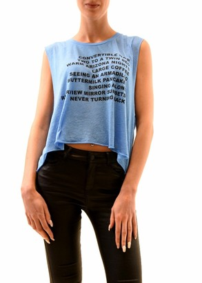 Wildfox Couture Women's Warm Nights Chad Tank Top Azure Blue Size M