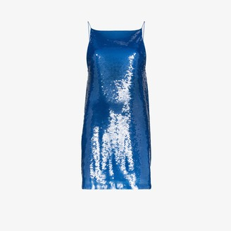 Eckhaus Latta Low Back Sequin Slip Dress
