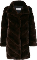 Yves Salomon fur fitted coat