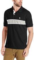U.S. Polo Assn. Men's Engineered Chest Stripe Pique Polo Shirt
