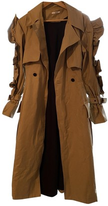 Asilio Camel Cotton Trench Coat for Women