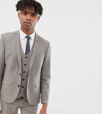 Heart N Dagger slim suit jacket in wool-Stone