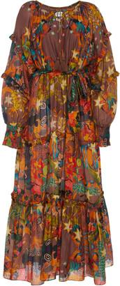Chufy Khuyana Printed Cotton-Silk Dress