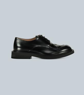 Bottega Veneta Intrecciato-paneled leather shoes