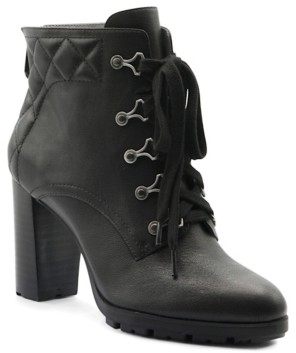 Adrienne Vittadini Trailer Lace Up Booties Women's Shoes