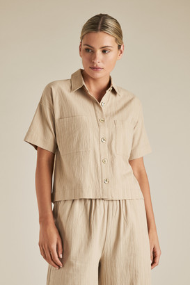 Seed Heritage Sustainable Stripe Crop Shirt