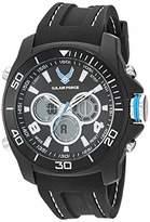 U.S. Air Force Men's Analog-Digital Chronograph Black Silicone Strap Watch by Wrist Armor