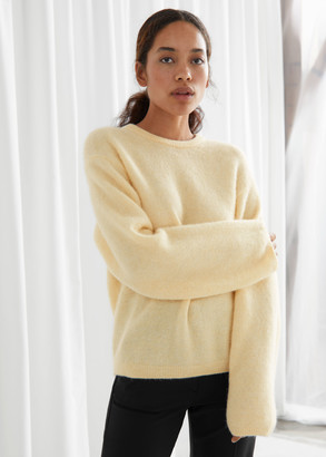 And other stories Fuzzy Wool Blend Sweater