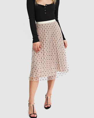 Belle & Bloom Women's Nude Midi Skirts - Mixed Feelings Reversible Skirt - Size One Size, XS-S at The Iconic