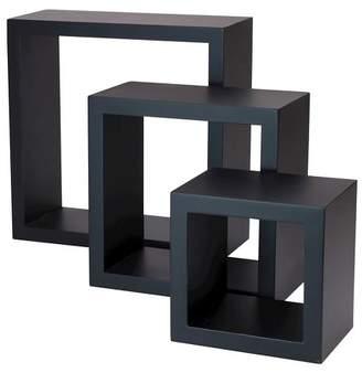 Nexxt Set of 3 Cubbi Shelves - Black