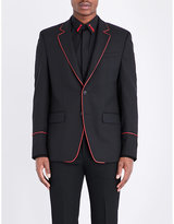 Givenchy Contrast-trim Slim-fit Wool Jacket