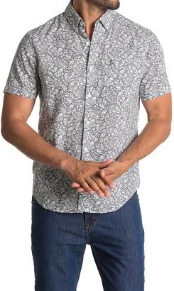 Original Penguin Short Sleeve Leaf Print Slim Fit Woven Shirt