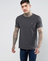Pretty Green Mitchell Crew Neck T-Shirt in Gray