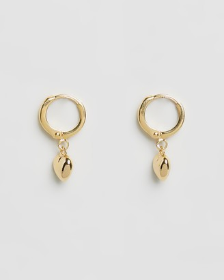 Luv Aj ICONIC EXCLUSIVE - The Baby Heart Gold Huggie Earrings