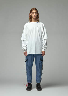 Off-White Off White Diagonal Unfinished Double Sleeve Tee