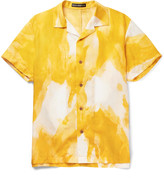 Issey Miyake Men - Oversized Camp-collar Printed Voile Shirt