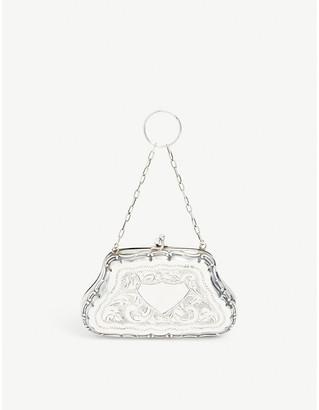 Susan Caplan Vintage Pre-loved Rococo-embossed sterling-silver coin purse