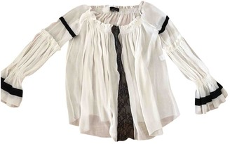 Barbara Bui White Silk Top for Women