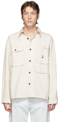 Acne Studios Off-White Twill Back Panel Shirt