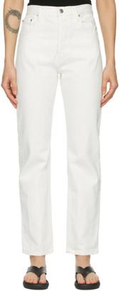 Esse Studios Off-White Denim Rigid Jeans