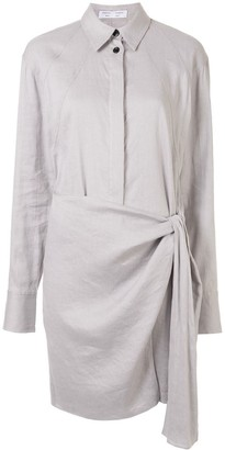 Proenza Schouler White Label Wrap Shirt Dress