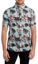 7 Diamonds Men's Palapa Funk Print Woven Shirt