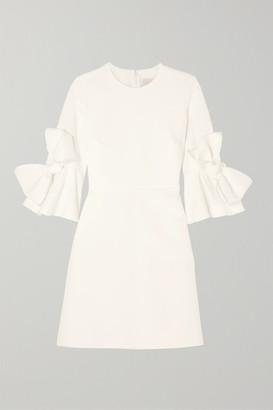 Roksanda Double Ricciarini Bow-embellished Satin-trimmed Crepe Dress - Ivory