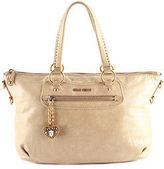 Miu Miu Beige Leather Gold Tone Two Way Tote Handbag BP4580 MHL