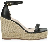 Thumbnail for your product : Stuart Weitzman Nudist Leather Espadrille Wedge Sandals