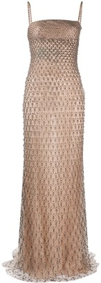 Valentino Pre-Owned Embellished Strapless Gown