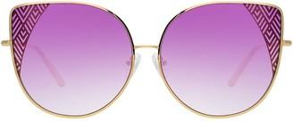 Linda Farrow Zigzag Cat Eye Sunglasses