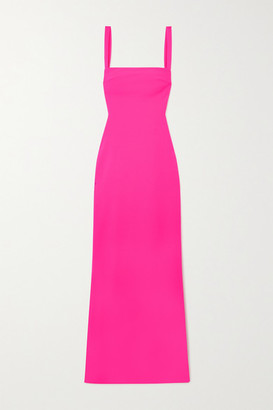 SOLACE London Crockett Cutout Stretch-cady Maxi Dress - Fuchsia