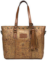 Patricia Nash Venetian Tooled Collection Gava Tasseled Studded Tote