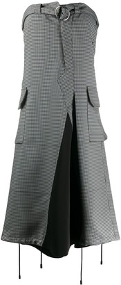 Maison Margiela Deconstructed Trouser-Style Strapless Dress