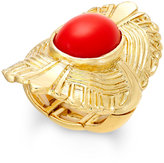 Thalia Sodi Gold-Tone Red Stone Fan Stretch Ring, Only at Macy's