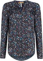 HUGO BOSS Efelize long sleeve button up printed top