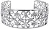 1/6 CT TW Diamond Sterling Silver Vintage Inspired Cuff Bracelet by Ax Jewelry