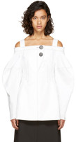 Ellery White Sugar Off-the-shoulder Blouse