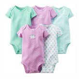 Carter's Baby Girls' 5 Pack Bodysuits (Baby) - Purple - 6M