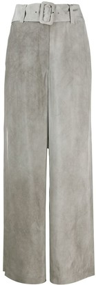 Emporio Armani Belted Wide Leg Trousers
