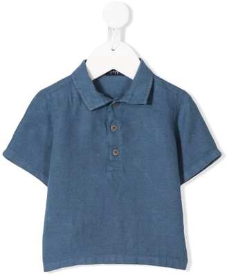 Il Gufo Button Collar Short Sleeve Top