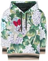 Dolce & Gabbana Floral-printed cotton-blend hoodie