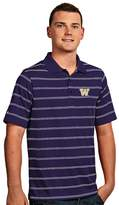 Antigua Men's Washington Huskies Deluxe Striped Desert Dry Xtra-Lite Performance Polo