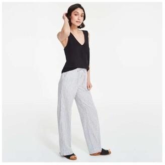 Joe Fresh Women's Linen Blend Pants, White (Size S)