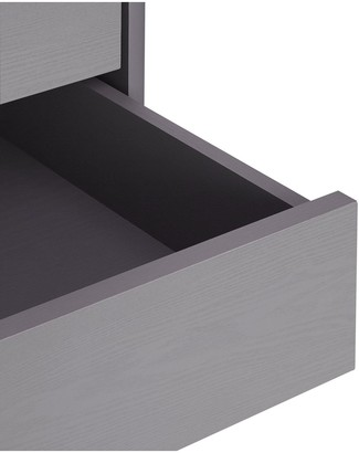 Aspen 3 Piece Package - 2 Door, 2 Drawer Wardrobe, 4 + 2 Chest and Bedside Table - Grey Oak Effect