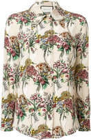 Gucci hand held bouquet printed shirt