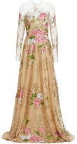 Thumbnail for your product : Naeem Khan Embroidered Floral Tulle Gown